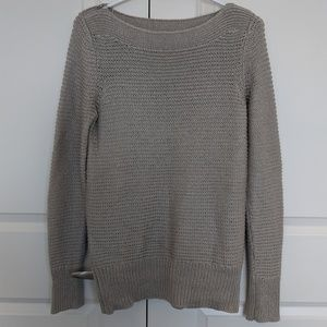 Oversized CK knit sweater with shoulder zippers